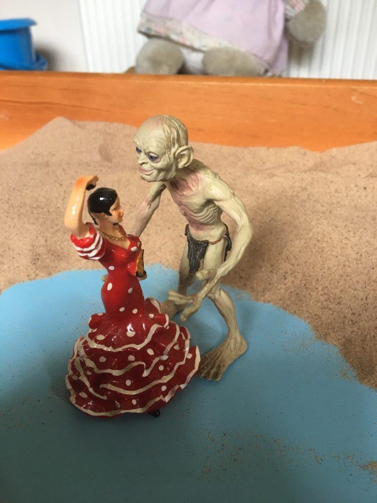 death-rebirth-archetype-sandplay dancer and gollum